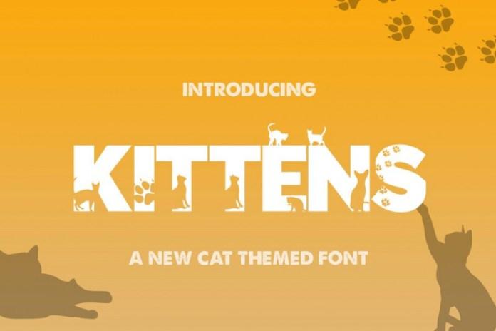 Kittens Silhouette Font