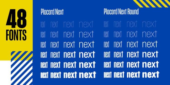 Placard Next Font