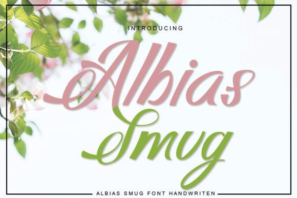 Albias Smug Font