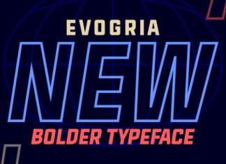 Evogria New Font