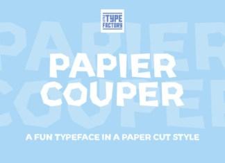 Papier Couper Font