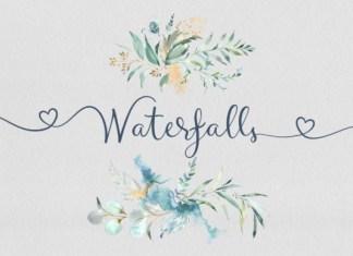 Waterfalls Font