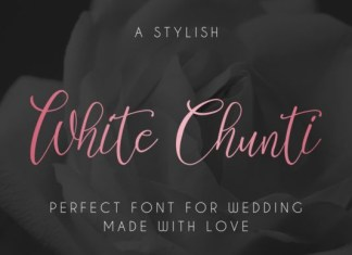 White Chunti Font