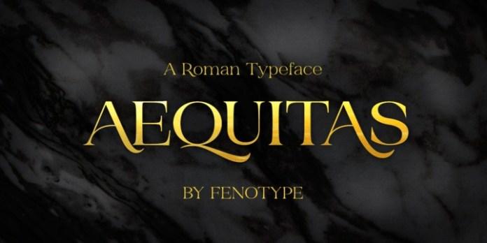 Aequitas Font