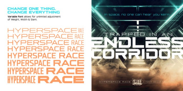 Hyperspace Race Font