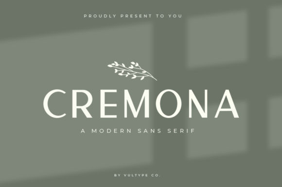 Cremona Font