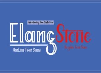 Elang Stone Font