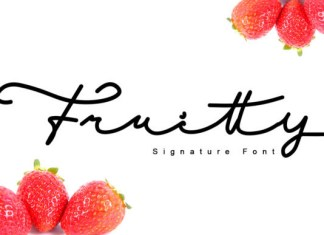 Fruitty Font
