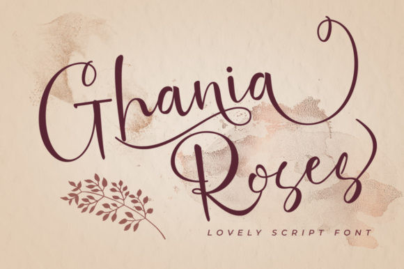 Ghania Roses Font