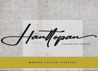 Hanttopan Font