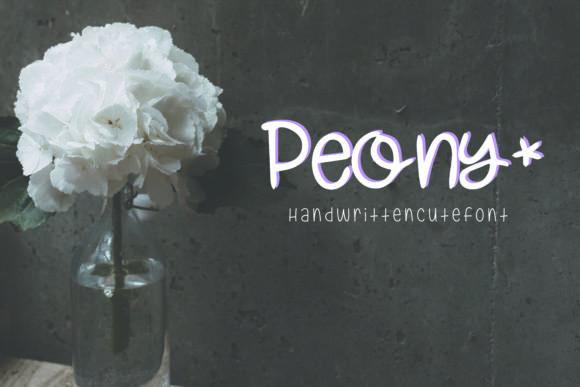 Peony Font