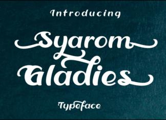 Syarom Gladies Font