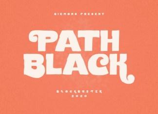 Path Black Font