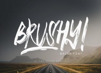 Brushy Font