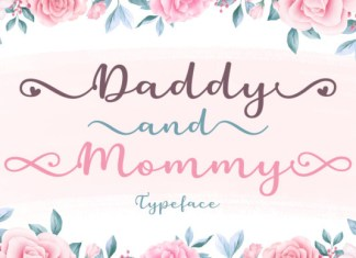 Daddy and Mommy Font