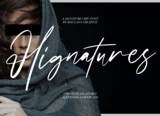 Hignatures Font