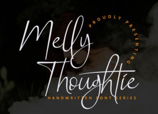 Melly Thoughtie Font