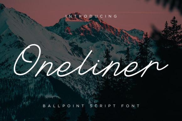 Oneliner Font