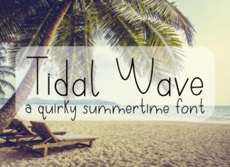 Tidal Wave Font