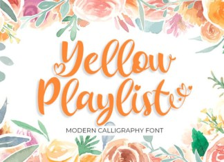 Yellow Playlist Font