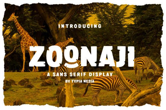 Zoonaji Font