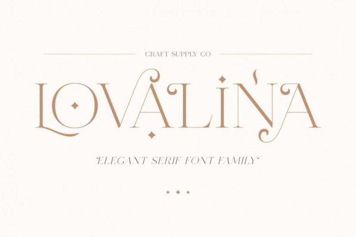 Lovalina Font