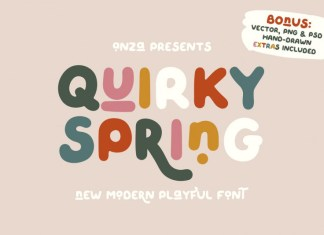 QUIRKY SPRING Font