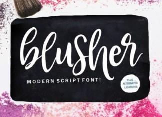 Blusher Font