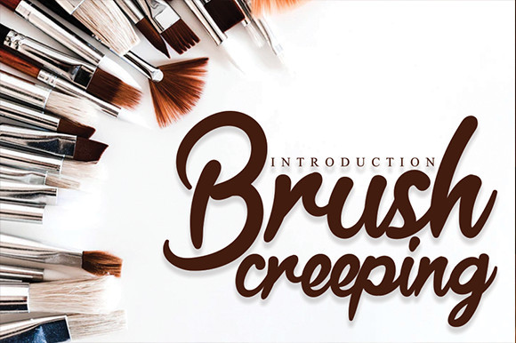 Brush Creeping Font