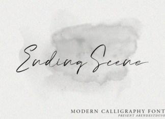 Ending Scene Font