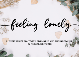 Feeling Lonely Font