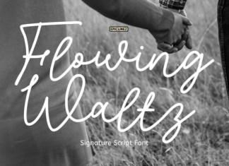 Flowing Waltz Font
