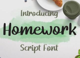 Homework Font