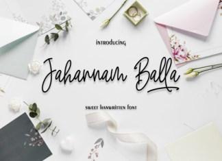 Jahannam Balla Font