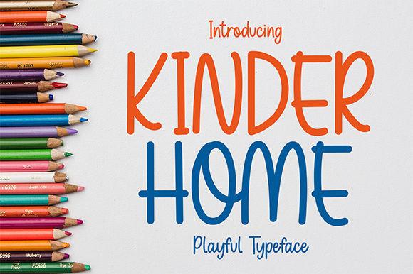 Kinder Home Font