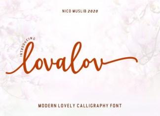 Lovalov Font