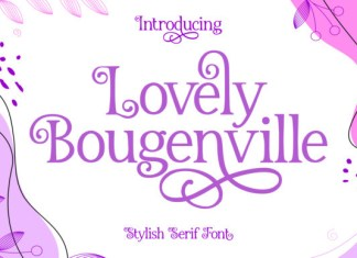 Lovely Bougenville Font