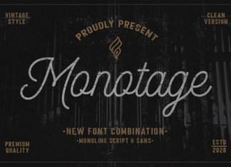 Monotage Font
