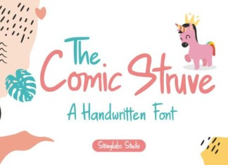 The Comic Struve Font