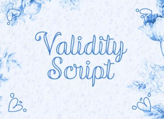 Validity Font