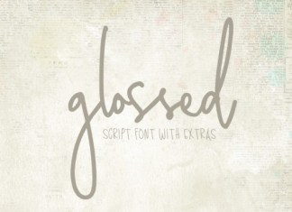 Glossed Font