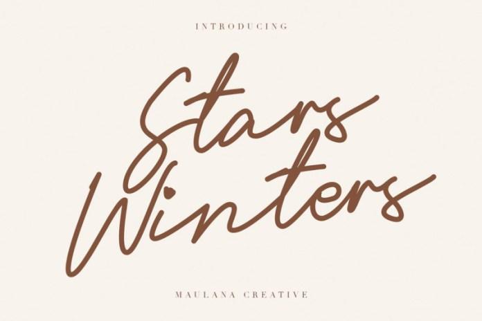 Stars Winters Font