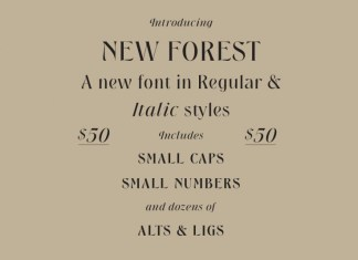 New Forest Font