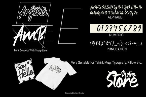 Arjenta Black Font