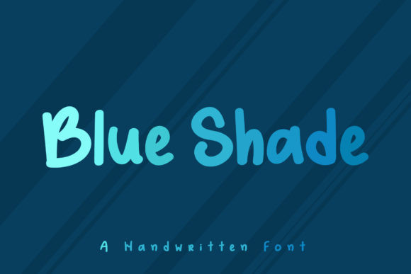 Blue Shade Font