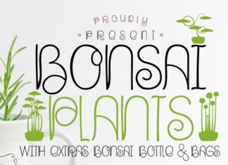 Bonsai Plants Font