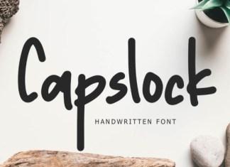 Capslock  Font