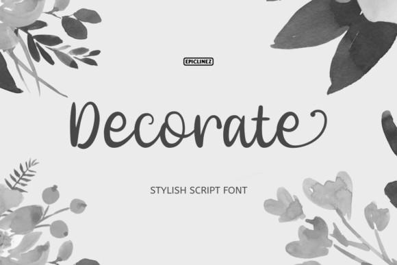 Decorate Font
