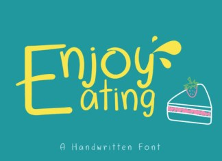 Enjoy Eating Font