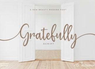 Gratefully  Font